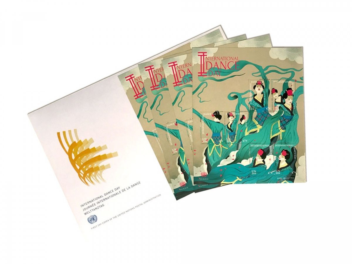 INTERNATIONAL DANCE DAY STAMPS
