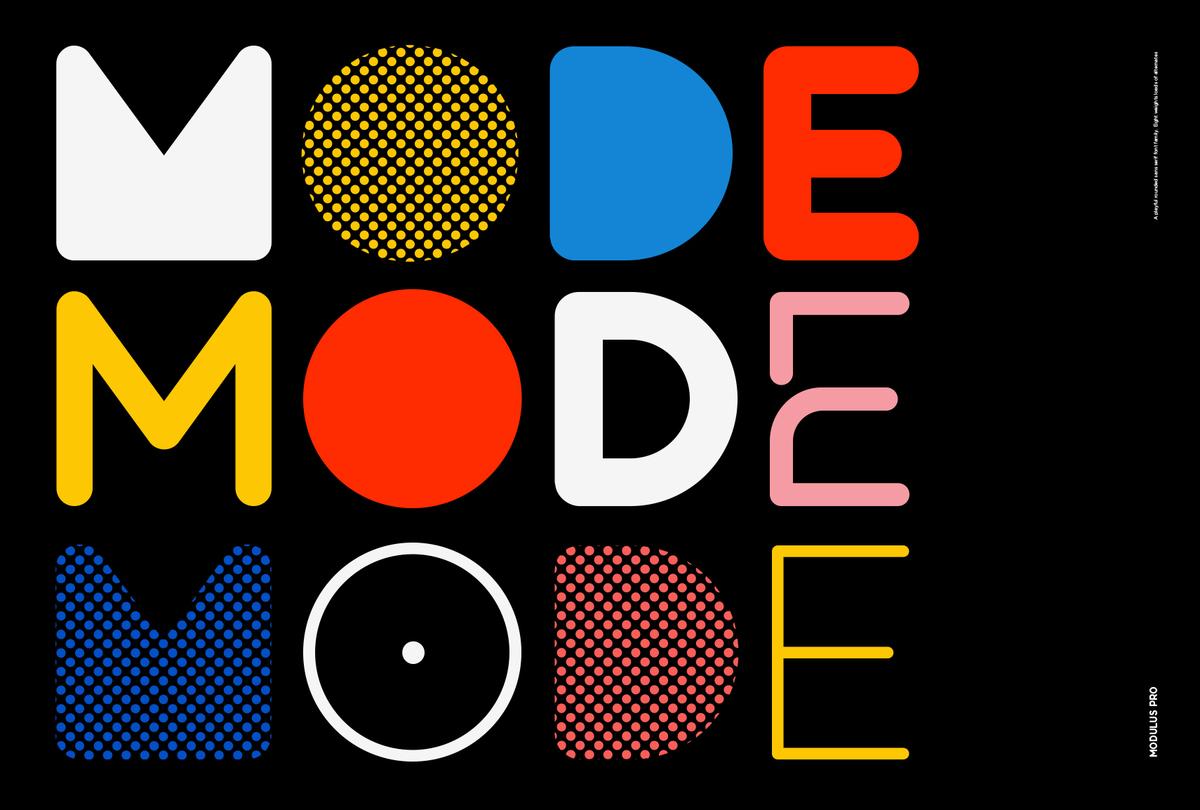 Modulus Pro - Type Design