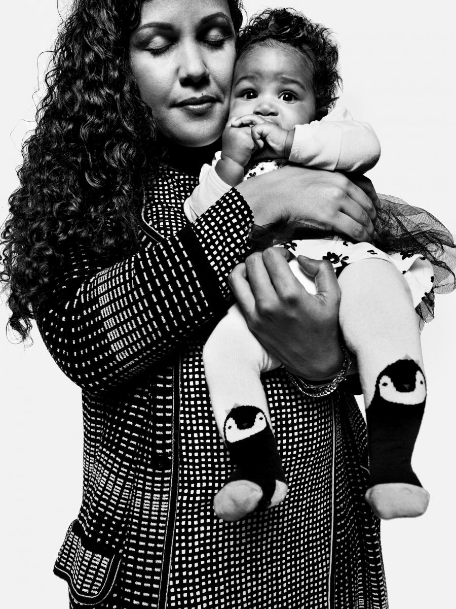 Malea Mouton Fuentes & Baby Zainab